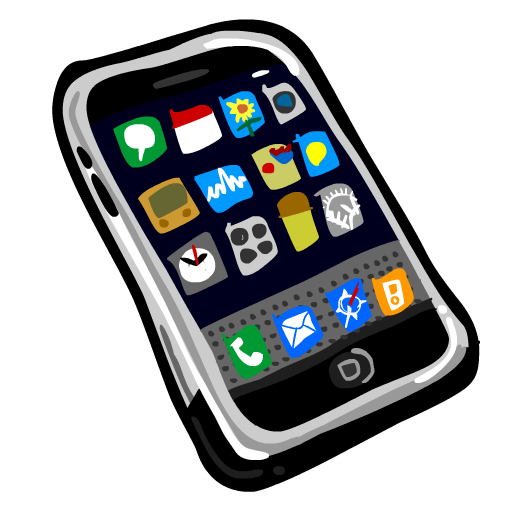 Clipart image of a cell phone