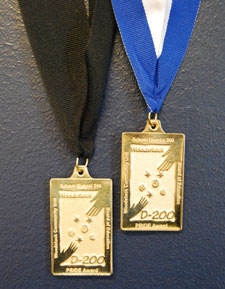 Photo of two PRIDE Award medallions