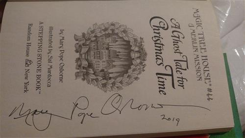 Photo of autographed book