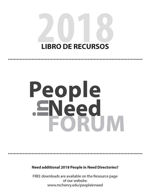 Cover image from People in Need Libro de Recursos 2018