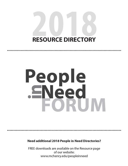 Cover image from 2018 People in Need Resource Directory