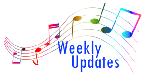 "Image of musical notes with the words ""Weekly Updates"""