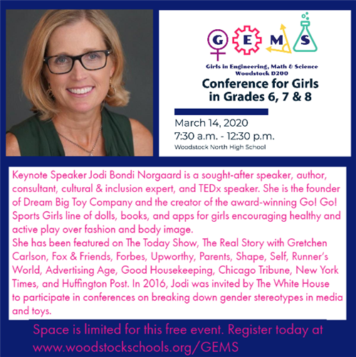 Photo and bio for GEMS conference keynote speaker