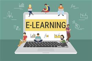 "Clipart image of computer screen ""E-Learning"""
