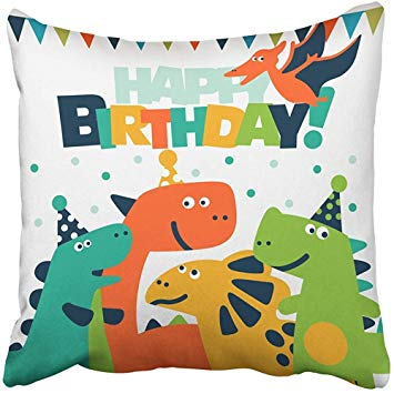 Image of cartoon dinosaurs at a birthday party